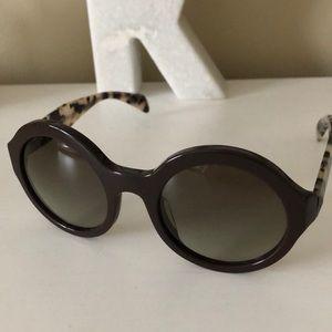 Prada Toirtoise Round Sunglasses with Case